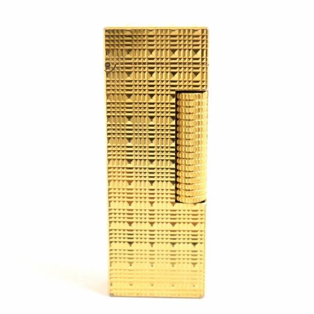 良品▽Dunhill ダンヒル ローラータイプ ガスライター ゴールド スイス製 着火確認済み◎