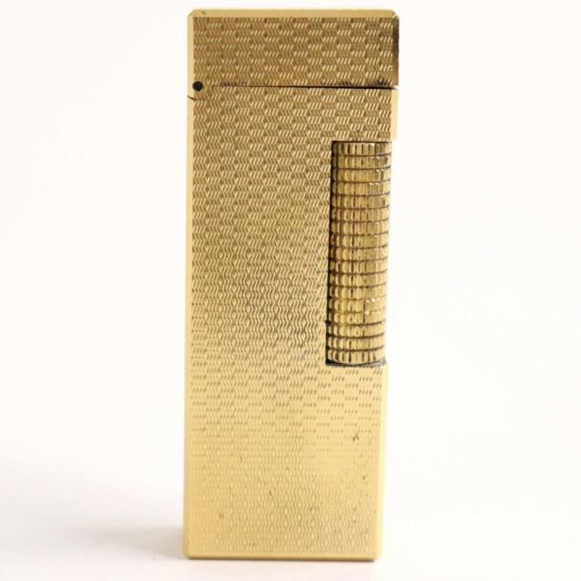 良品▽Dunhill ダンヒル ローラータイプ ガスライター ゴールド スイス製 メンズ レディース 着火確認済み◎
