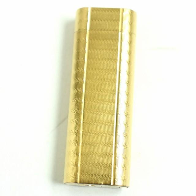良品◆Cartier カルティエ オーバル ガスライター ゴールド 着火確認済み◎ メンズ レディース