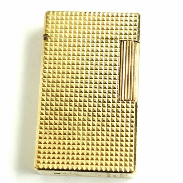 良品◆S.T.Dupont デュポン ライン1 ダイヤモンドヘッド ローラータイプ ガスライター ゴールド フランス製 着火確認済み◎