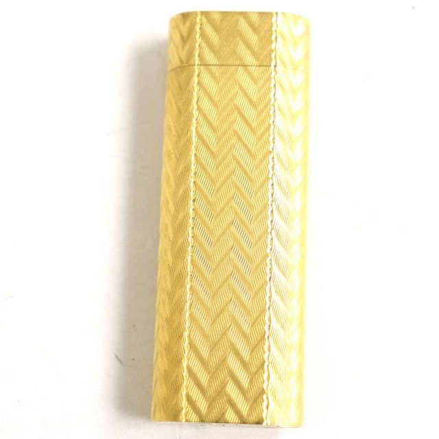 良品◆Cartier カルティエ オーバル ガスライター ゴールド 着火確認済み◎ 箱付き メンズ レディース