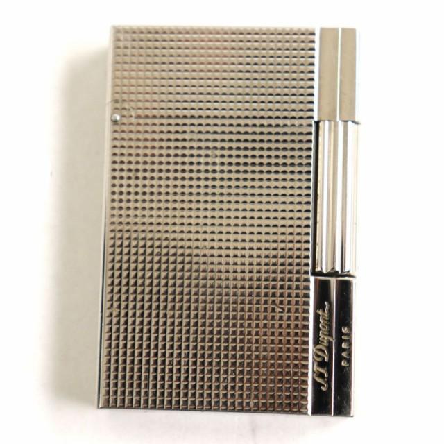 良品◆S.T.Dupont デュポン ギャッツビー ダイヤモンドヘッド ロゴ刻印入り ガスライター シルバー フランス製 着火確認済み◎