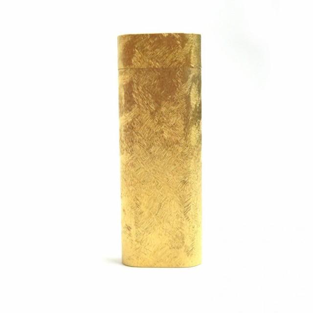 良品□(1)Cartier カルティエ クロスカット ローラー式 ロゴ入り ガスライター ゴールド 着火確認済み メンズ/レディース