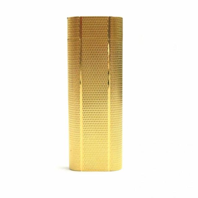 良品□(2)Cartier カルティエ ローラー式 ロゴ入り ガスライター ゴールド 着火確認済み メンズ/レディース オススメ◎