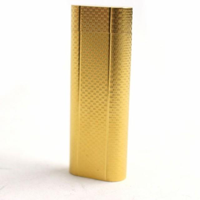 良品□Cartier カルティエ ローラー式 ロゴ入り 総柄 ガスライター ゴールド 着火確認済み メンズ/レディースオススメ◎