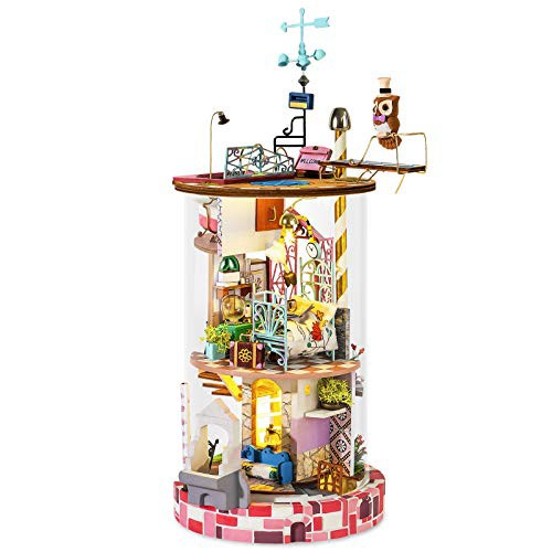 Rowood DIY ミニチュア 木製ドールハウス 大人 ティーンズ 男の子 女の子 ミニハウス デスクデ