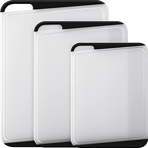 Empune プラスチックまな板 キッチンまな板用大型まな板 3枚セット 食洗機対応 肉用キッチン