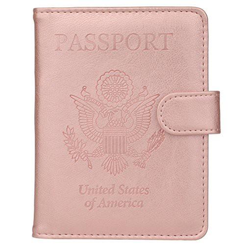 特別価格送料無料GDTK レザーパスポートホルダーカバーケース RFIDブロック 旅行財布 US
