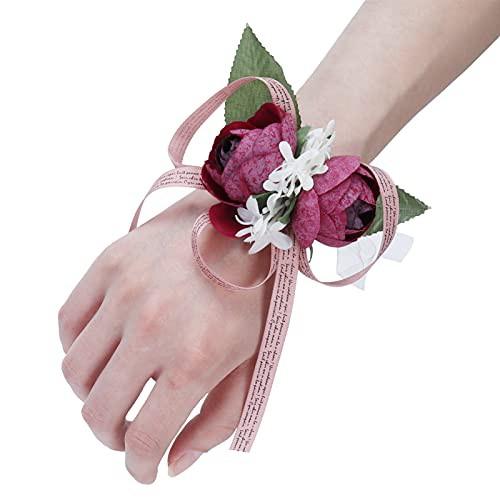 特別価格送料無料2Pcs Girl Wrist Flower Innovative Artificial Bridesmaid Wrist Corsage Party Wedding Hand Flo