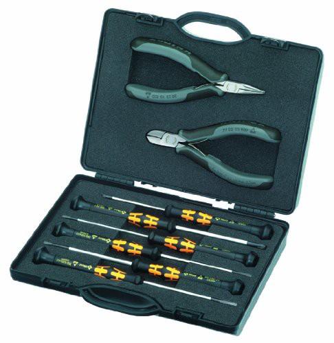 送料無料 Knipex 00 20 18 ESD 8個電子ツールセット