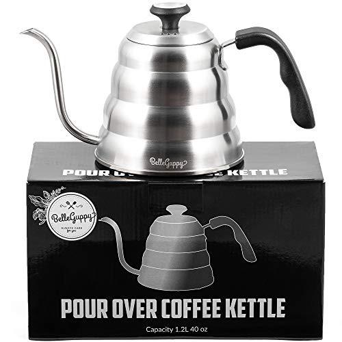 送料無料 Gooseneck ケトル - 温度計付きポアオーバーコーヒーケトル - 精密フロースパウト - コ
