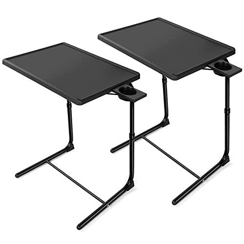 新品送料無料HUANUO 調節可能なテレビトレイ - ベッドソファのテレビトレイテーブル 調
