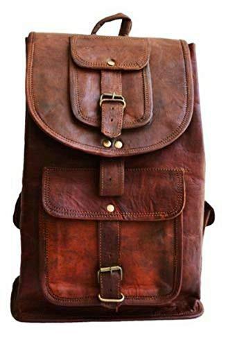 新品送料無料Parrys Leather World 素朴なィンテージレザーバックパックバッグ リュックサ