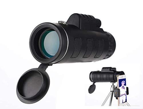 新品送料無料単眼鏡 望遠鏡 40X60 HD 単眼鏡 スマートフォンホルダー三脚プリズム付き バ