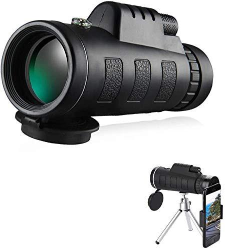 新品送料無料単眼鏡 望遠鏡 40X60 ハイパワー HD コンパクト 単眼鏡 スマートフォンホルダ