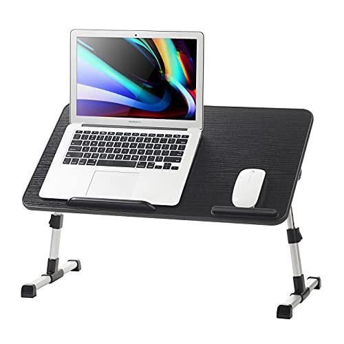 新品送料無料Dolar ノートパソコンベッドデスク 調節可能なノートパソコントレイ ベッド