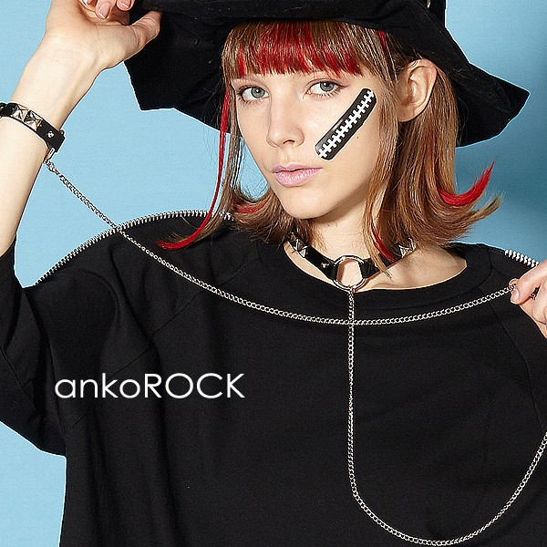 ankoROCK アンコロック アクセサリー メンズ チョーカー レディース オールシーズン レザー 革 ロングチェーン