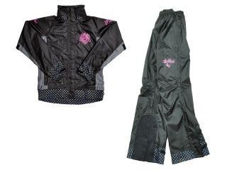 Angel Hearts ARS-4191 Rain Suit カラー:ブラック サイズ:WM