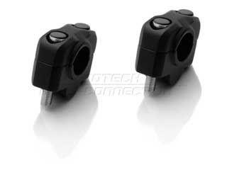SW-MOTECH φ22バー ライザー 20mmアップ カラー:ブラック