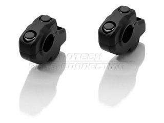 SW-MOTECH φ28バー バーバック 30mmアップ、22mmバック カラー:ブラック