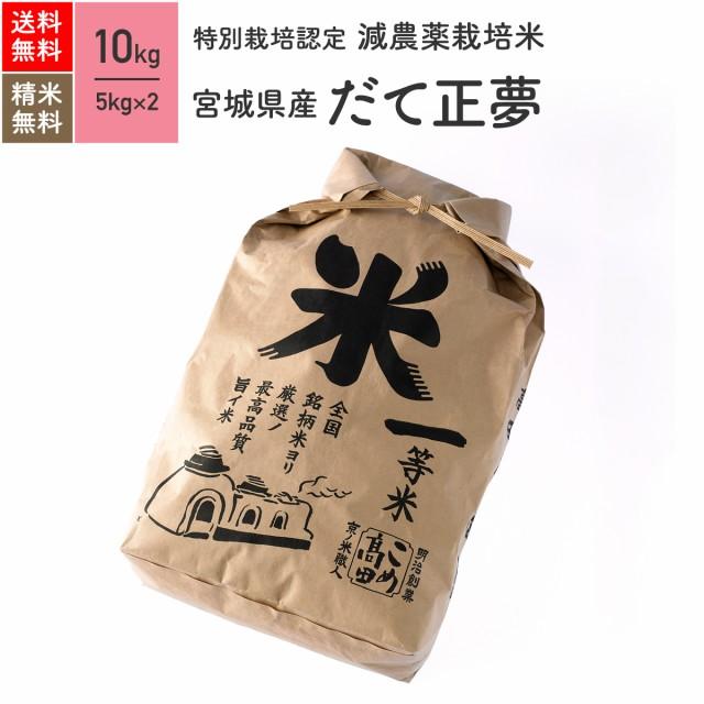 特別栽培米 宮城県産 だて正夢 10kg 令和2年産