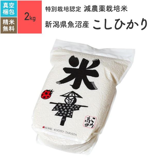 特別栽培米 新潟県魚沼産 こしひかり 2kg 令和2年産 真空パック