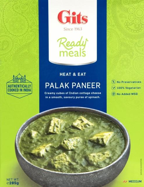 パラック パニール Palak Paneer ほうれん草とカッテージチーズのカレー 【Gits】 / インド料理 レトルト インドカレー Gits(ギッツ)