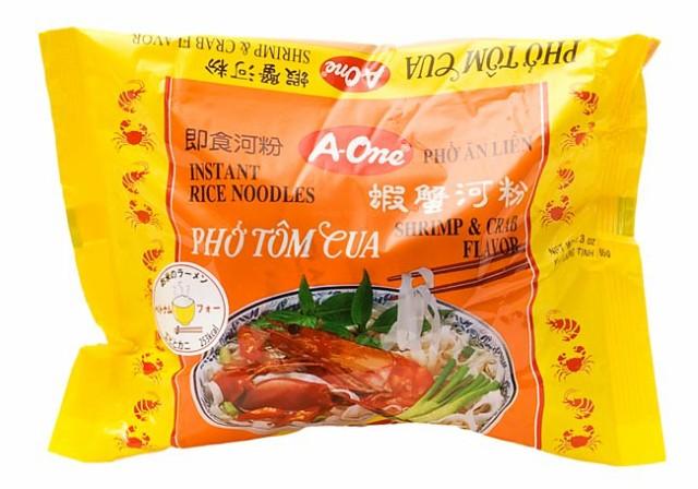 ベトナム フォー (袋) 【A One】 エビとカニ味 / ベトナム料理 インスタント麺 One(エーワン) ベトナム食品 ベトナム食材 アジアン食