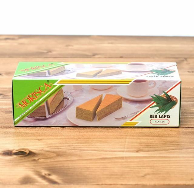 レイヤーケーキ パンダン風味 【MORISCA】 / インドネシア お菓子 MORISKA(モリスカ) バリ ナシゴレン 食品 食材 アジアン食品 エスニ