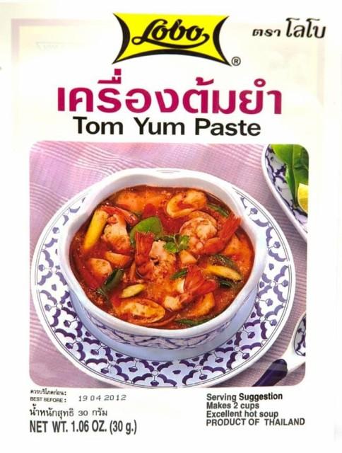 トムヤム ペースト 30g 【Lobo】 / タイ料理 料理の素 トムヤンクン LOBO(ロボ) インド レトルト カレー アジアン食品 エスニック食材