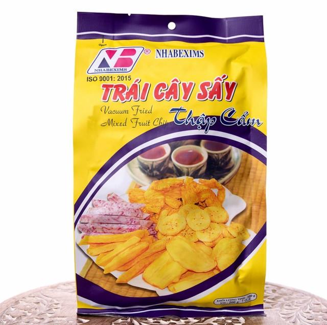 フライド ミックス フルーツ チップ 200g / バナナ パイナップル タロイモ さつまいも ジャックフルーツ アジアのスナック NHABEXIMS (ニ