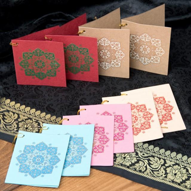 インドのギフトタグ 10枚セット / プレゼント レター メッセージカード Chimanlals 便箋 レターセット 封筒 エスニック アジア 雑貨