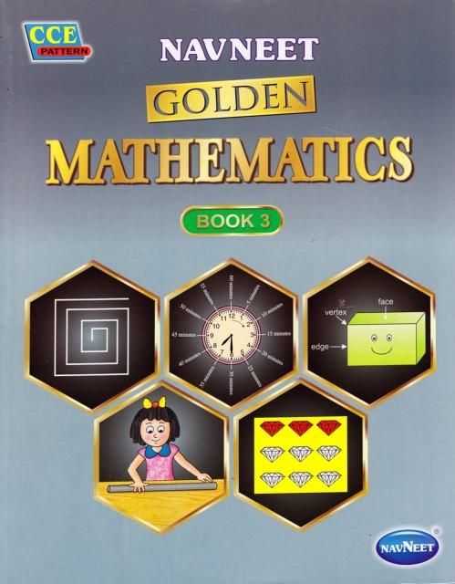インドの算数の教科書 Navneet Golden Mathematics Book3(3年生用) / 英語学校 ヒンディー語 タイ語 勉強 本 印刷物 ステッカー ポストカ