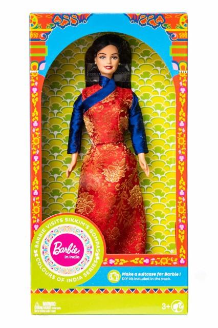 【送料無料】 インドのバービー人形 シッキム州僧院を旅する / サリー パンジャビ エスニック アジア 雑貨